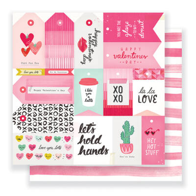 Crate Paper- Heart Day 12x12 Double Sided Paper - La La Love