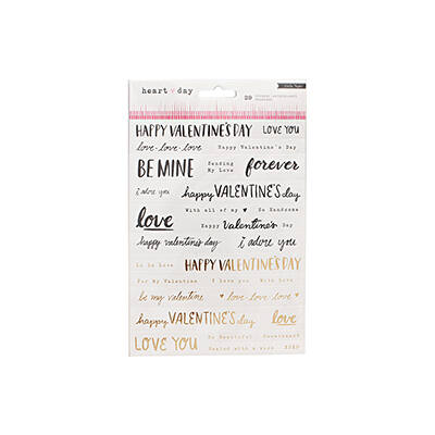 Crate Paper- Heart Day Phrases Stickers