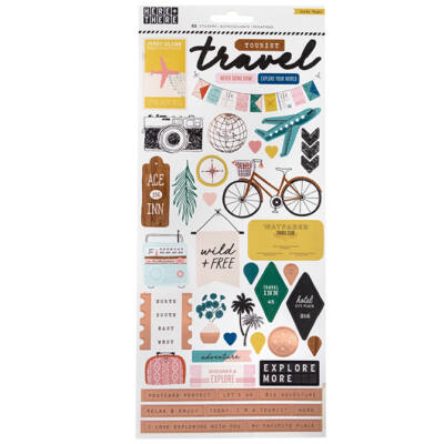 Crate Paper - Here & There 6x12 Stickers
