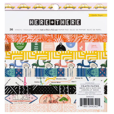 Crate Paper - Here & There 6x6 Paper Pad