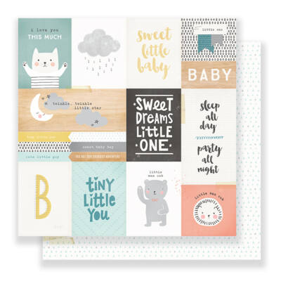 Crate Paper Little You 12 x 12 Double Sided Paper - Little One