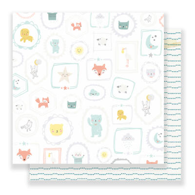 Crate Paper Little You 12 x 12 Double Sided Paper - Sweet Boy