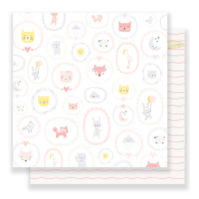 Crate Paper Little You 12 x 12 Double Sided Paper - Baby Girl