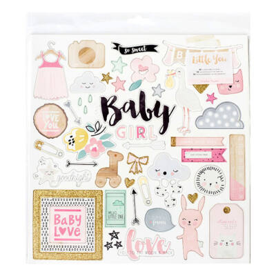 Crate Paper Little You - Girl 12 x 12 Chipboard