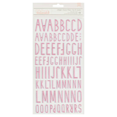 Crate Paper Little You - Girl Starlight Puffy Alpha Stickers