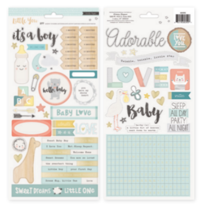Crate Paper Little You - Boy 6 x 12 Stickers