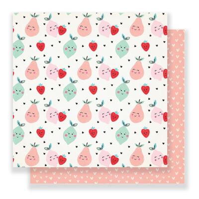 Crate Paper - Main Squeeze 12x12 Paper - Cute Pear