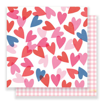 Crate Paper - Main Squeeze 12x12 Paper - Heart Eyes