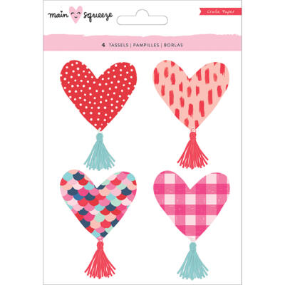 Crate Paper - Main Squeeze Heart Tassels
