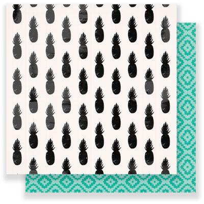 12 x 12 Oasis Crate Paper RETREAT Scrapbooking American Crafts