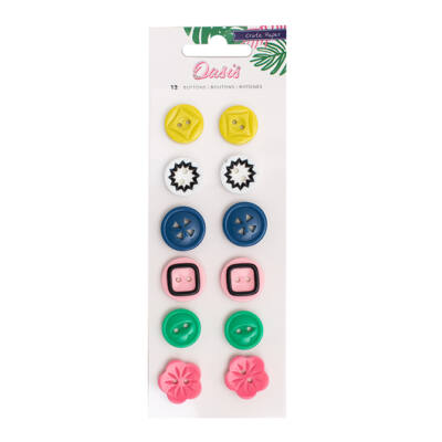 Crate Paper Oasis Buttons
