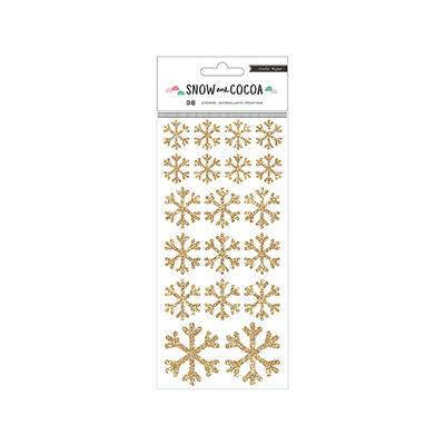 Crate Paper Snow & Cocoa Snowflake Stickers