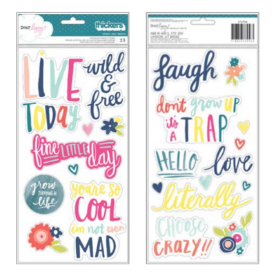 Dear Lizzy Lovely Day Lovely Chipboard Thickers