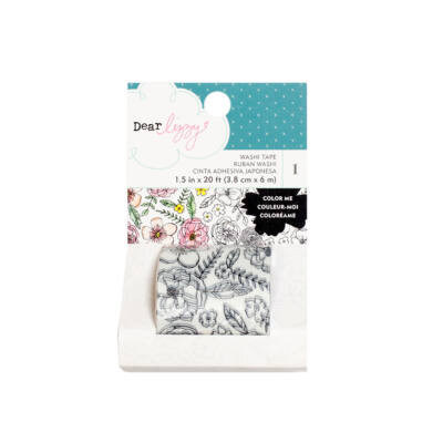 Dear Lizzy Lovely Day Coloring Washi Tape