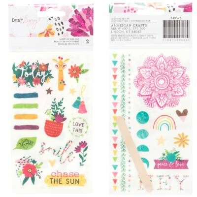 Dear Lizzy - New Day Rub-Ons - 2 Sheets