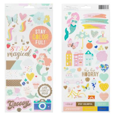 Dear Lizzy - Stay Colorful 6x12 Stickers