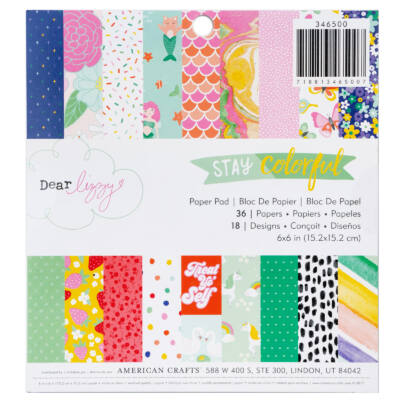 Dear Lizzy - Stay Colorful 6x6 Paper Pad