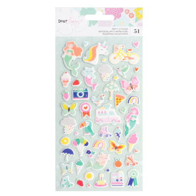 Dear Lizzy - Stay Colorful Puffy Stickers