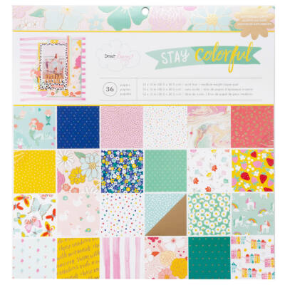 Dear Lizzy - Stay Colorful 12x12 Paper Pad