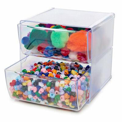 Deflecto Cube Storage Organizer - 2 Drawer