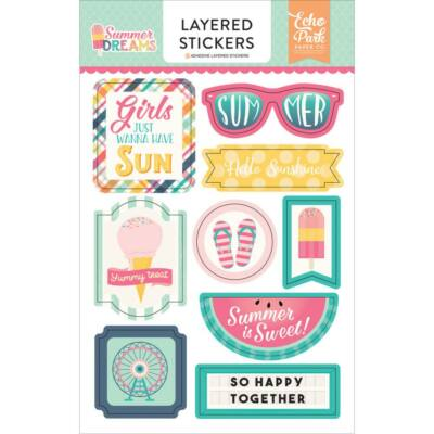 Echo Park - Summer Dreams Layered Stickers