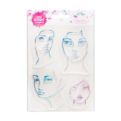 Jane Devanport Acrylic Stamp - 4 faces