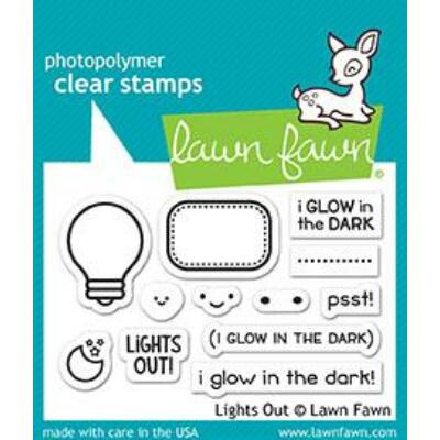 Lawn Fawn 2x3 Clear Stamp - Lights Out
