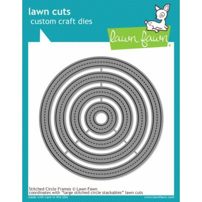 Lawn Cuts - Stitched Circle Frames