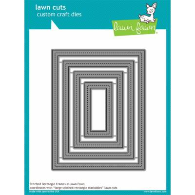 Lawn Cuts - Stitched Rectangle Frames