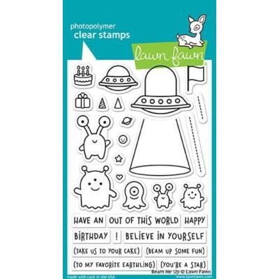 Lawn Fawn 4x6 Clear Stamp - Beam Me Up