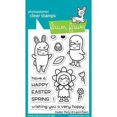 Lawn Fawn 3x4 Clear Stamp - Easter Party