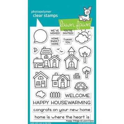 Lawn Fawn 4x6 Clear Stamp - Happy Village