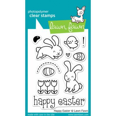Lawn Fawn 3x4 Clear Stamp - Happy Easter