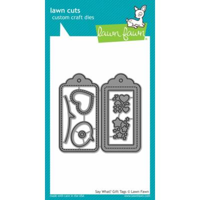 Lawn Fawn Die Set - Say What? Gift Tags