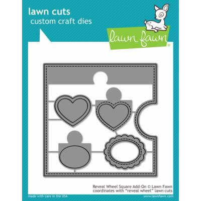 Lawn Fawn Die Set - Reveal Wheel Square Add-on