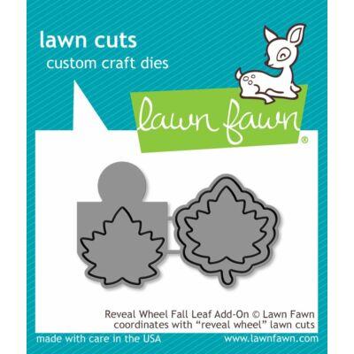 Lawn Fawn Die Set - Reveal Wheel Fall Leaf Add-on