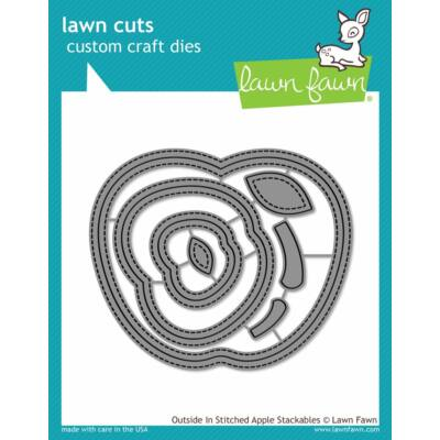 Lawn Fawn Die Set - Outside in Stitched Apple Stackables