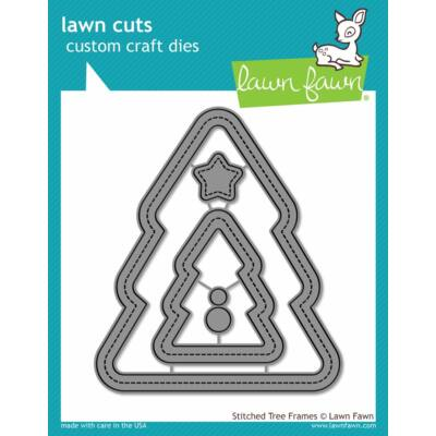 Lawn Fawn Die Set - Stitched Christmas Tree Frames
