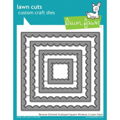 Lawn Fawn Die Set - Reverse Stitched Scalloped Square Windows