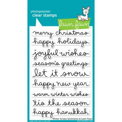 Lawn Fawn 4x6 Clear Stamp - Winter Scripty Sentiments