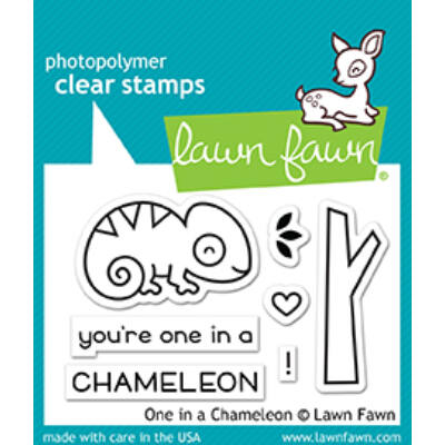 Lawn Fawn 2x3 Clear Stamp - One In A Chameleon