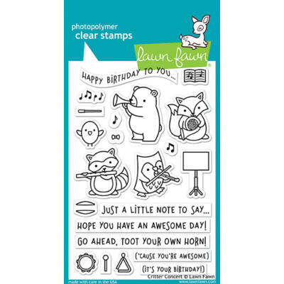 Lawn Fawn 4x6 Clear Stamp - Critter Concert