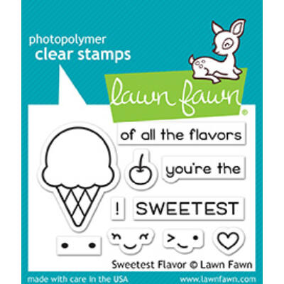 Lawn Fawn 2x3 Clear Stamp - Sweetest Flavor
