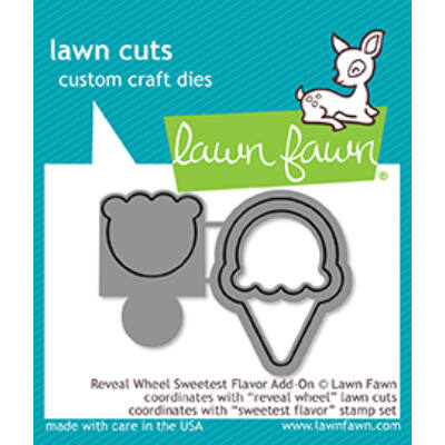 Lawn Fawn Die Set - Reveal Wheel Sweetest Flavor Add-On