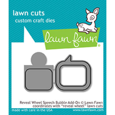 Lawn Fawn Die Set - Reveal Wheel Speech Bubble Add-On