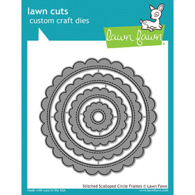 Lawn Fawn Die Set - Stitched Scalloped Circle Frames
