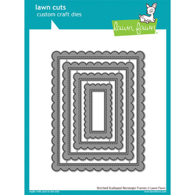 Lawn Fawn Die Set - Stitched Scalloped Rectangle Frames