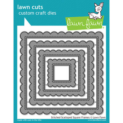Lawn Fawn Die Set - Stitched Scalloped Square Frames