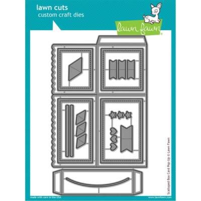 Lawn Cuts - Scalloped Box Card Pop-Up