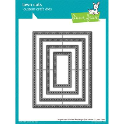 Lawn Cuts -Large Stitched Rectangle Stackables